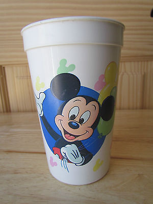 Walt Disney World Coca Cola Vintage 1990 Mickey Mouse Plastic Cup By Miner Guc!