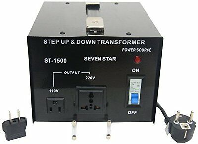 1500 Watt Voltage Converter Step Up Down Transformer 1500W 240-110V / 110-240V