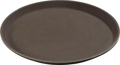 "Carlisle 1100GR076 Griptite Round Tray 11"" Toffee Tan Case of 12"