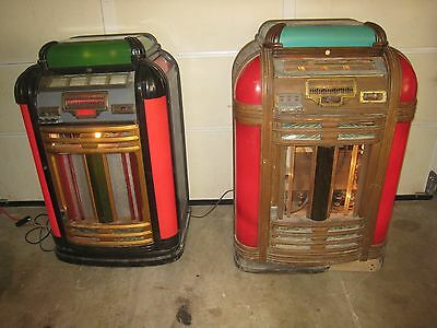 "2 Old Seeburg Jukeboxes. ""Classic"" and a ""Vogue"" Pair of Jukes for restoration."