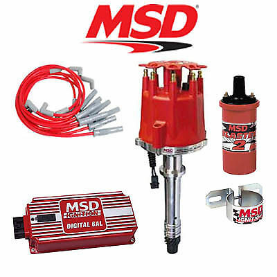 msd 91503 ignition kit digital 6al 2 distributor wires coil small msd ignition complete kit digital 6al distributor wires coil bracket bbc
