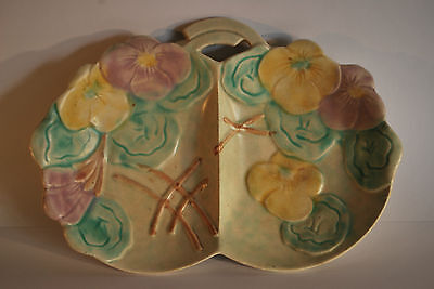 Art Deco Beswick Double Sided Dish with Floral/Pansy Flowers     #3000