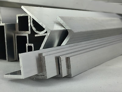 Aluminium Extruded Angle Profile sizes 12x12x1.5mm-40x40x5mm many length