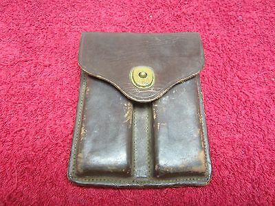 US Post WWII Model 1911 Brown Leather 45 ca Belt Pouch