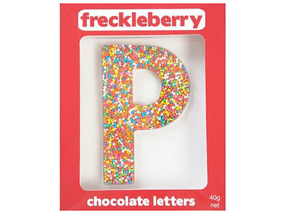 Letter P Chocolate Freckleberry Freckle - Boxed Unique Gift Present Birthday