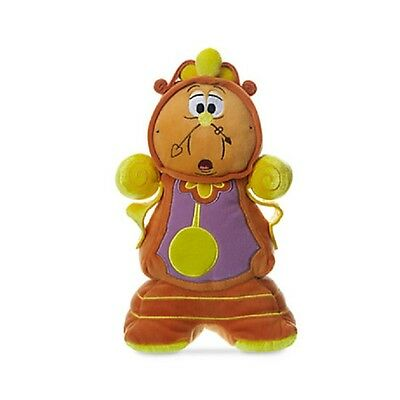 """Beauty & The Beast Cogsworth Plush 10 1/2"""" Nwt Authentic Disney Store Patch"""