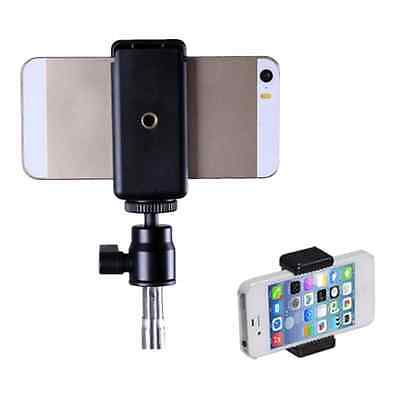 Ajustable Stand Phone Clip Tripod Mount Adapter Holder for Smartphone iPhone US