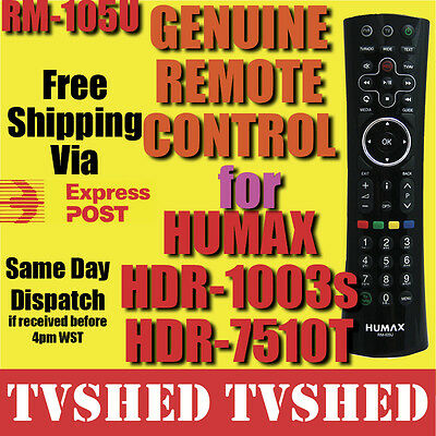 Humax RM-105U Remote Control for HDR-1003S or HDR-7510T