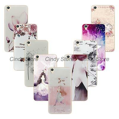 reputable site 603a1 858fd FOR OPPO A37 A37M Soft Tpu Case Cover Dandelion Flower Minions Girl