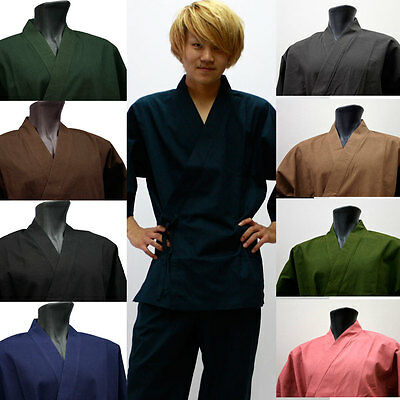 New Japanese Unisex Traditional Summer Work Wear SAMUE 100% Cotton 8color 4size