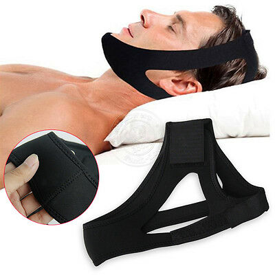 Adjustable Anti Snore Stop Snoring Sleep Apnea Strap Aid Belt Jaw Chin Support