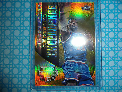 2014/15 Totally Cetified Certified Excellence Mirror card 4 LeBron James #18/25
