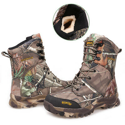 Men's Tactical Military Deployment Ankle Boots Camo Hiking Hunting Fleeces Shoes