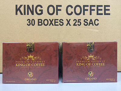 Organo Gold Cafe King Of Coffee Cafe Ganoderma Coffee 2 Box Free Express & Gift