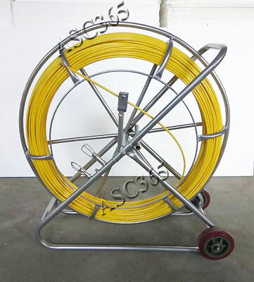New Fish Tape Fiberglass Reel Wire Cable Running Rod Duct Rodder Puller 8mm