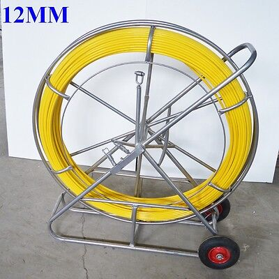 New Fish Tape Fiberglass Wire Cable Running Rod Duct Rodder Puller 12mm