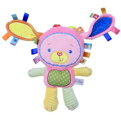 NEW Baby Infant Soft Stuffed Plush Animal Toy Rattle Squeaky Educational Toys N7