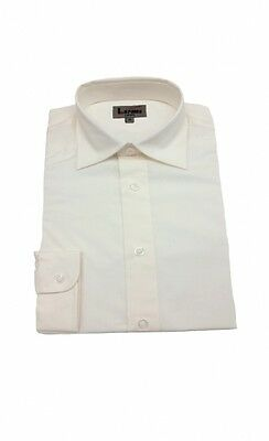 Cream Dress Shirt for Boy Formal Wear 100% Cotton NWT size 10  years last one