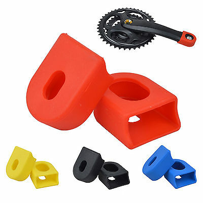 1pair Silicon Bicycle Crank arm Boots/Protectors Bike MTB Crankset Protective