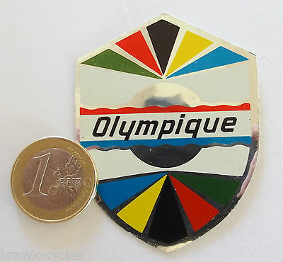 Autocollant badge CYCLES OLYMPIQUE, ORIGINAL neuf. 1960/70's NOS sticker.