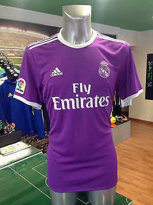 Maglia Calcio Shirt Football Jersey Adidas Real Madrid Away Viola 2016/2017 Liga