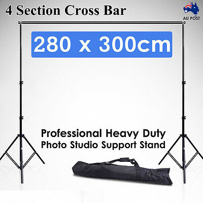 Photography Lighting Backdrop Background Support Stand Photo Studio Video 2.8x3M