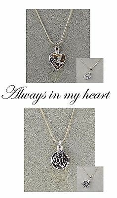 Memorial Necklace.Pet. Dog. Cat. Ashes keepsake. Loved one. Memory.