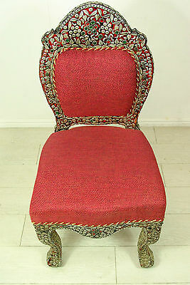 Beautiful Moroccan style natural stone encrusted chair
