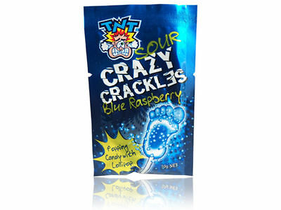 TNT Sour Popping Crazy Crackles - Grape / Strawberry / Blue Raspberry 2 x Packet