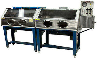 SSEC Two Chamber Glove Box with Two Vacuum Ovens