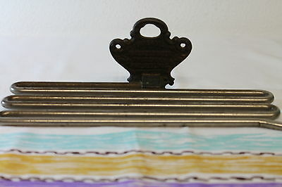 Antique 1900 nickel plated trouser wall hanger Imperial Philadelphia Steampunk