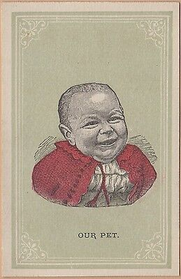 "Victorian Trade Card-""Our Pet"" Soap-Summit City Soap Co-Fort Wayne, IN-Baby"