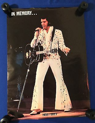 vintage SEALED 1977 Elvis Presley MEMORIAL POSTER Pro Arts LIVE Vegas 20x29in