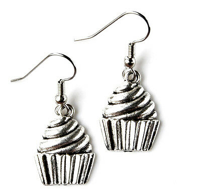 Cupcake Earrings - Birthday Accessories - Women's Jewelry - Handmade - Gift Box