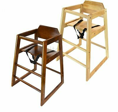 Stackable Wooden Baby Feeding High chair for home & restaurants by Cuddles