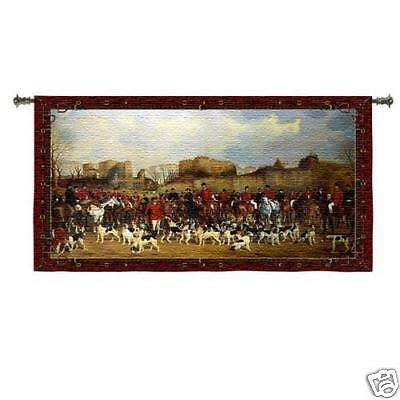 Meet by North Warwick Hunting British Wall Tapestry