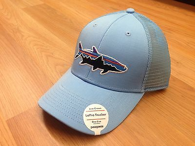 42755838f26ab Patagonia Fitz Roy Tarpon Lopro Trucker Hat Lite Electron Blue Streams of  Dreams