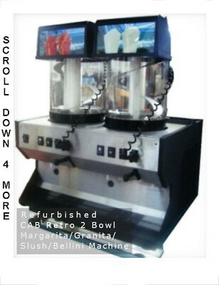NEW CAB Retro 2-Bowl Granita Machine