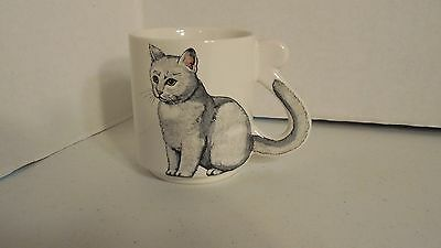 Cat Mug with light Gray Cat