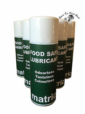Food Safe Lubricant Odourless, Tasteless, Colourless 400ml Aerosol - 6 or 12