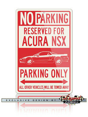 Acura NSX 1990 Reserved Parking Only Sign - Size: 12x18 or 8x12 Aluminum Sign