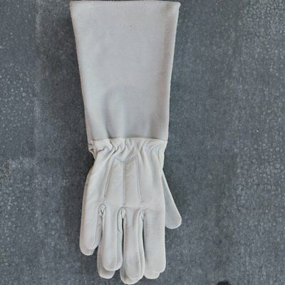 Gardening gloves, leather, long