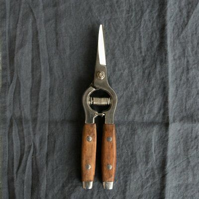 Flower snips, stainless steel with rosewood handle