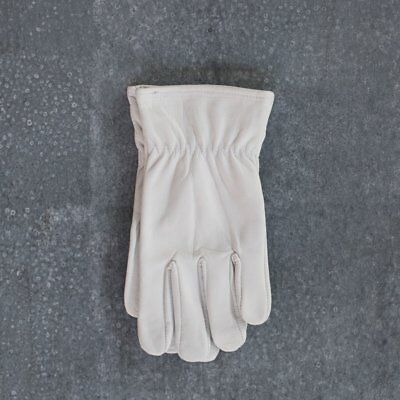 Gardening gloves, leather, short