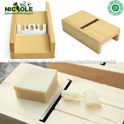 Nicole Loaf Soap Trim Tools Wooden Box With Metal Blade DIY Trimming Polishing
