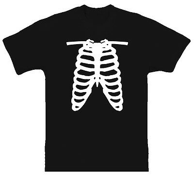 Rib Cage X Ray Funny Joke Skeleton Science Black TShirt
