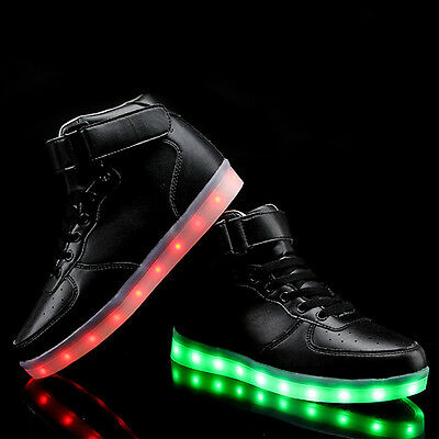 High Top Luminous LED Light Lace Up Unisex Sportswear Sneaker Shoes Casual Shoes