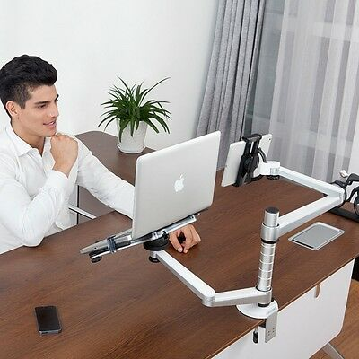 "2 in1 360º rotate height adjust laptop/ipad Pro /7-13"" tablet table/desk stand"