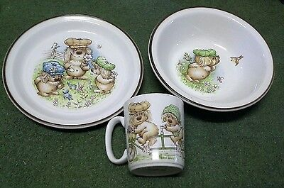 Collectable Woofits dinner set by Barratts of Staffordshire England