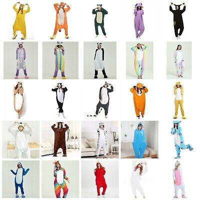 Cartoon Animal Pokemon Unicorn Sloth Cat Adult Onesie0 Kigurumi Pajamas Costume